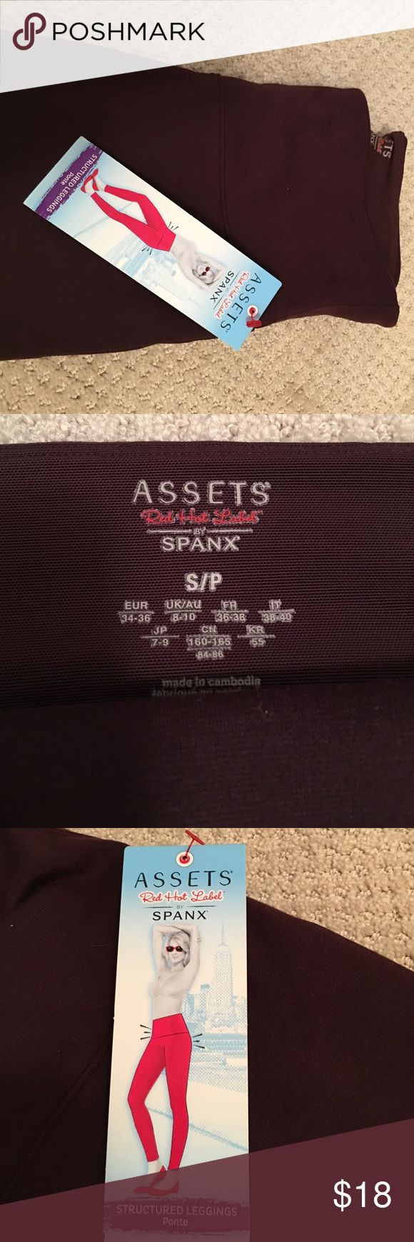 Spanx leggings Spanx structured leggings. New with tags. Color is brownish/ burgundy SPANX Pants Leggings