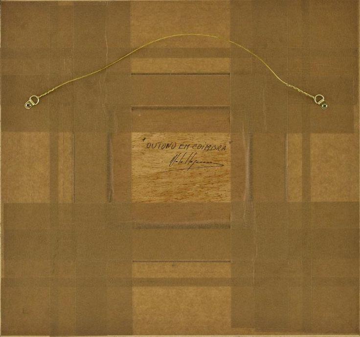 """Lote 5646 - MOTA URGEIRO (n.1946) - Original - Pintura a óleo sobre madeira, assinada, título """"Outono em Coimbra"""", com 15x18 cm (moldura dourada com 45x47 cm). Óleo deste autor foi vendido por € 3.400 numa leiloeira em Lisboa. Nota: Mota Urgeiro é considerado o expoente máximo do impressionismo em Portugal, como reconhecimento pela qualidade artística das suas obras de arte, foi premiado com medalha de Ouro da Sociedade Nacional de Belas Artes em 1973 - Current price: €200"""