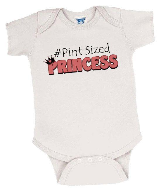 Pint Sized Princess Preemie Girl's Onesie, Preemie Bodysuit, Preemie Girl Onesie, Preemie Girl Clothes, Preemie Girl Clothing, Preemie Girl by EarlyArrivalBoutique on Etsy