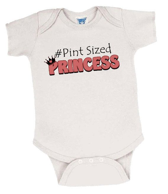 Pint Sized Princess Preemie Girl's Onesie, Preemie Bodysuit, Preemie Girl Onesie, Preemie Girl Clothes, Preemie Girl Clothing, Preemie Girl by EarlyArrivalBoutique on Etsy