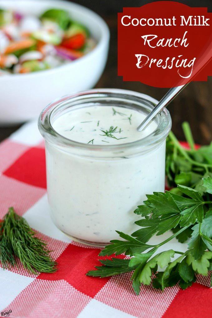 Coconut Milk Ranch Dressing Recipe Veganish Ranch Dressing