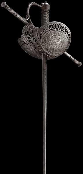 A Spanish cup-hilt rapier late 17th century .