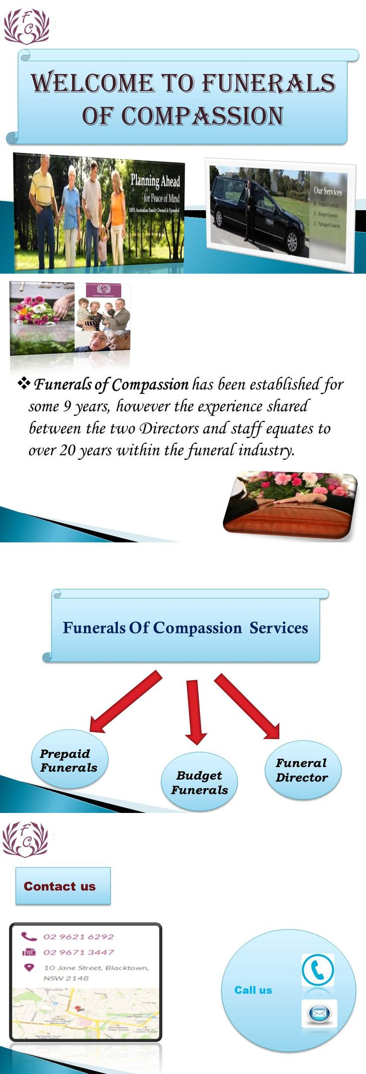 Funerals of Compassion organize funeral Home service in Sydney.