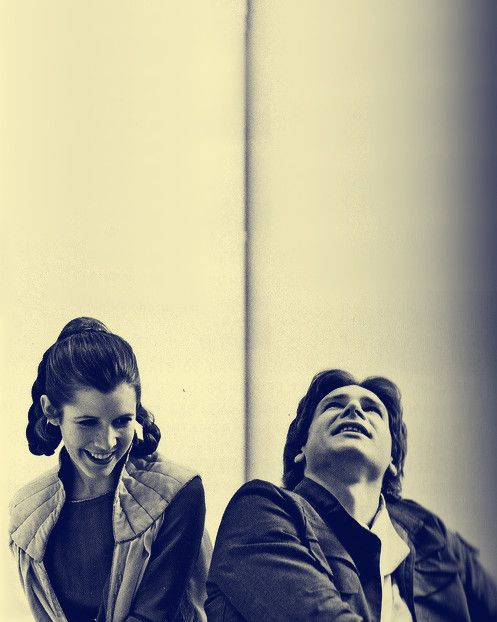 Star wars -  Harrison Ford and Carrie Fisher 1977