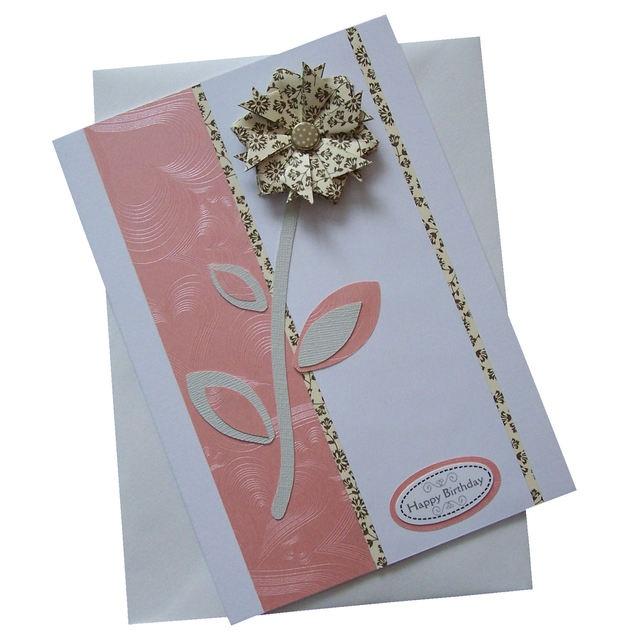 Handmade Flower Birthday Card £2.00
