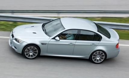 2008 BMW M3 Sedan  Four doors, no waiting. http://www.caranddriver.com/reviews/2008-bmw-m3-sedan-short-take-road-test