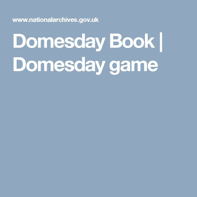 Domesday Book | Domesday game
