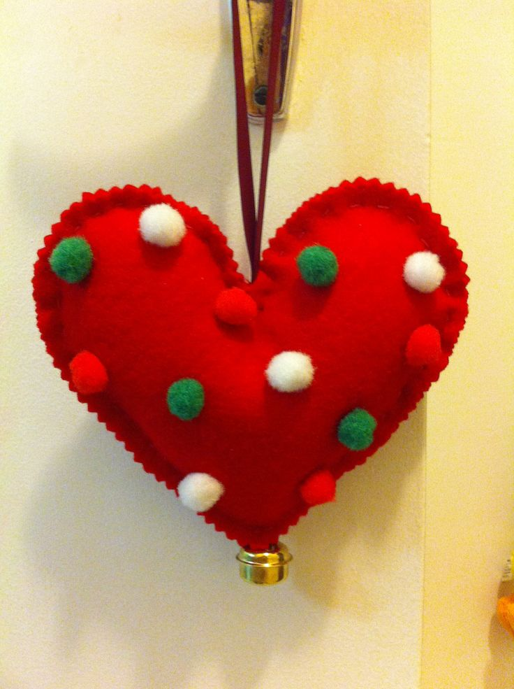 Xmas tree heart ornament!