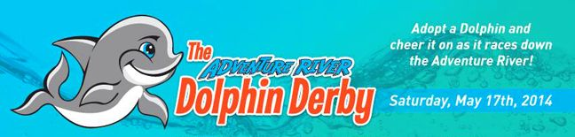 On May 17th, Ocean Breeze Waterpark's Opening Day... 5,000 tiny toy dolphins will make a BIG SPLASH as they dash through the Adventure River in a race for the finish line during the inaugural Dolphin Derby, benefiting Chartway Federal Credit Union's We Promise Foundation.   Siebert Realty Sandbridge Beach - Virginia Beach, VA