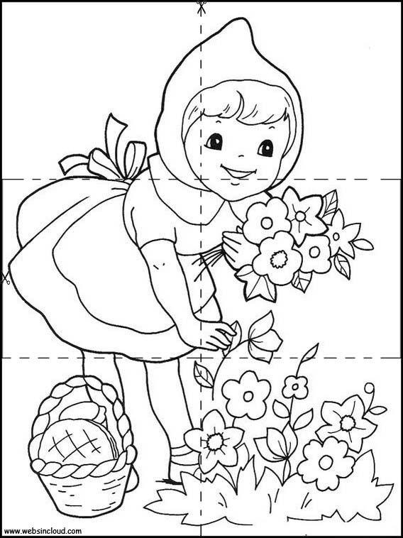 Actividades Imprimibles Puzzles Recortables Para Ninos Caperucita Roja 3 Caperucita Roja Dibujo Cuento De Caperucita Caperucita Roja Cuento