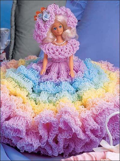 Easy Crochet Doll Skirt Pattern : More crochet doll clothes. Crochet Barbie and Ken ...