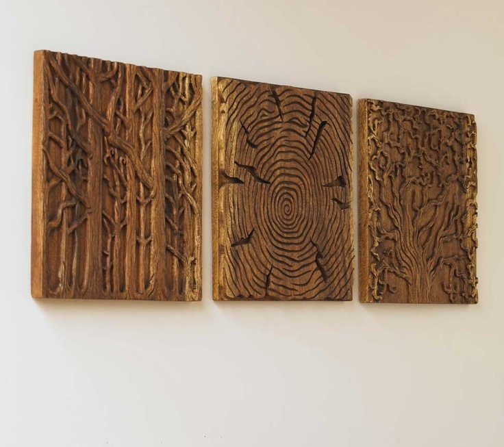 l triptych captures the sensual contours of trees from three unique perspectives.Branches dance gracefully with slender trunks in thetop panel, and in thecenter panel they billow high and wide as if saluting the sky. In the
