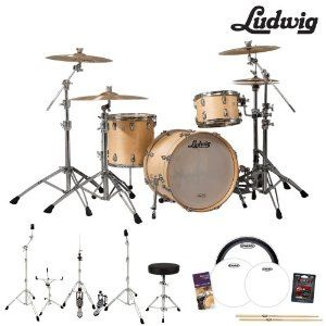 Ludwig USA Classic Maple 3 Pc Drum Kit in Natural Finish is the ideal choice for any performance application #ludwig #drum #drummers #summer #sale #deals
