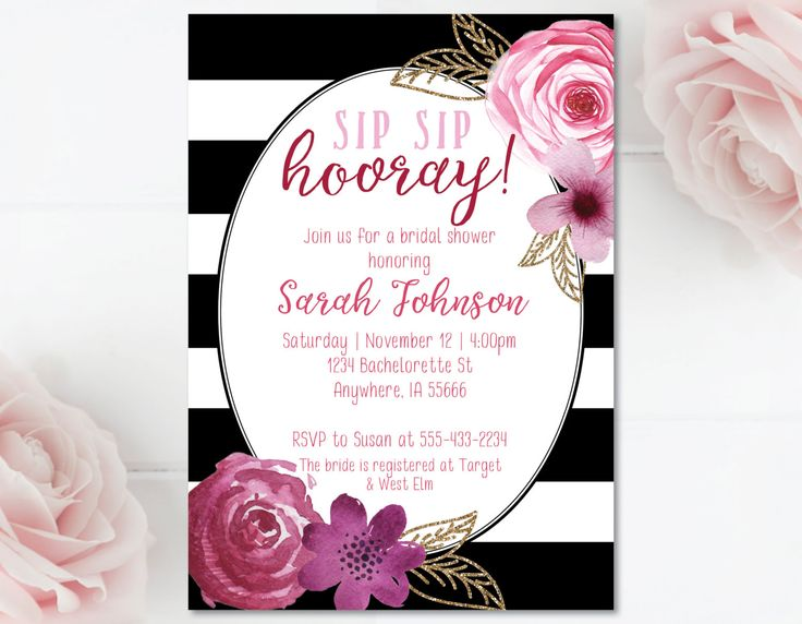 Wine Bridal Shower Wine Themed Bridal Shower Invitation black pink and gold bridal shower invitation wine theme shower wine bridal shower by MathisDesigns on Etsy