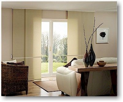 SLIDING WINDOW TREATMENTS think of all the color combinations you could do layering this in various colors!