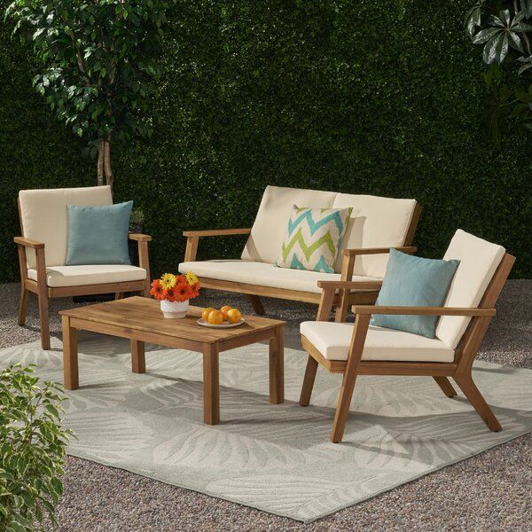 4 Piece Sofa Seating Group With Cushions Seating Groups Outdoor Sofa Sets Seating