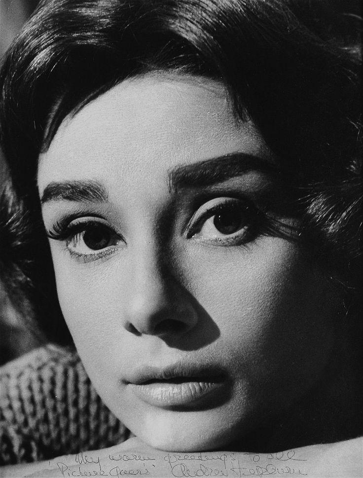 """miss-vanilla: """"Audrey Hepburn dans une publicité encore pour Love In The Afternoon, 1956."""""""