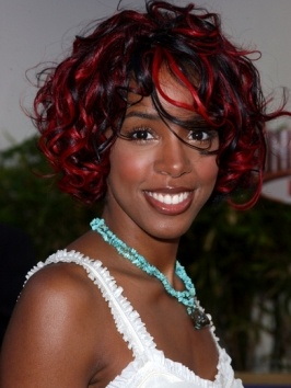 75 best colour inspo for curly hair images on pinterest curly kelly rowland curly bob with red highlights dark curly haircurly pmusecretfo Images