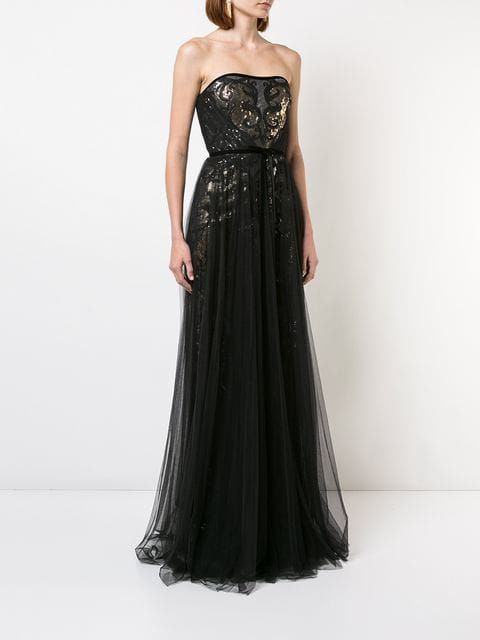 21e53423e25 Marchesa Notte sequined tulle gown | Mawwiage | Tulle gown ...