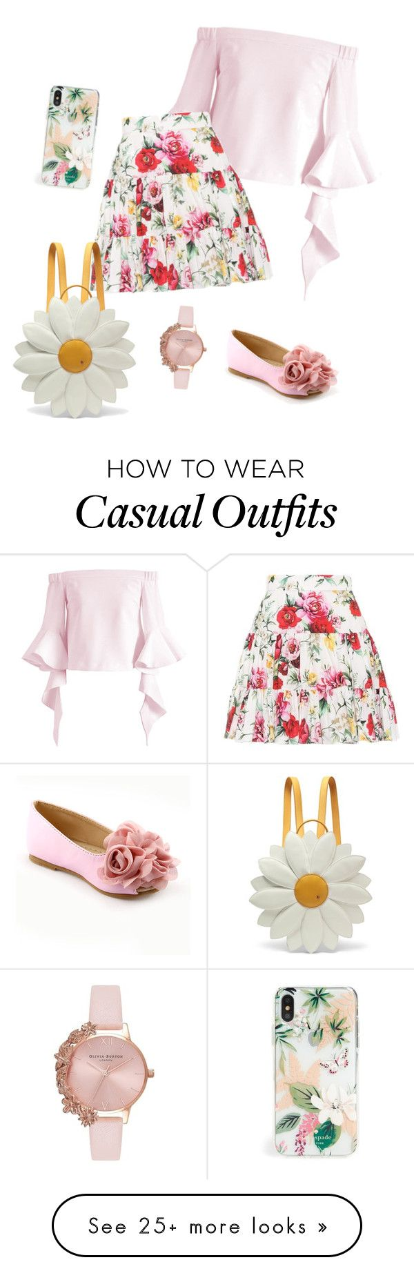"""""""Casual #4"""" by twinkleheartrai on Polyvore featuring Chicwish, Dolce&Gabbana, Charlotte Olympia, Kate Spade and Olivia Burton"""