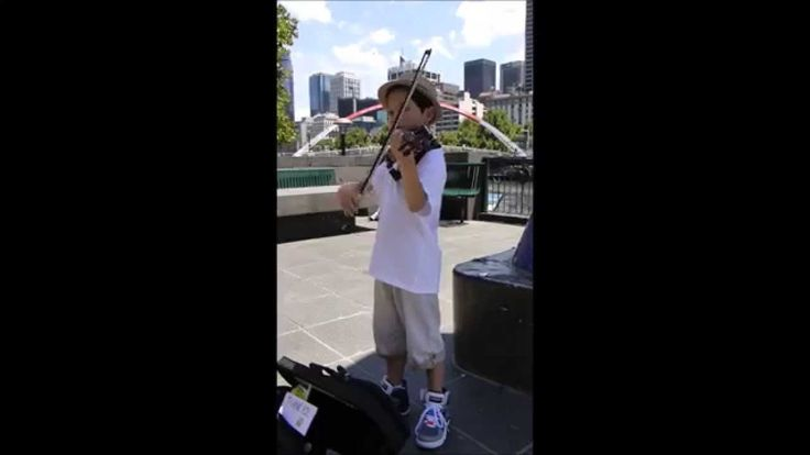 """Sonata in G Minor , 4th Mvt., by Henry Eccles; Henry Eccles (1670 - 1742) was an English Composer in the court of King Louis XIV. […] busking along the Southbank Promenade […] in front of the """"Mistletoe Bridge"""". See more of this young violinist #from_UnknownEntity0"""