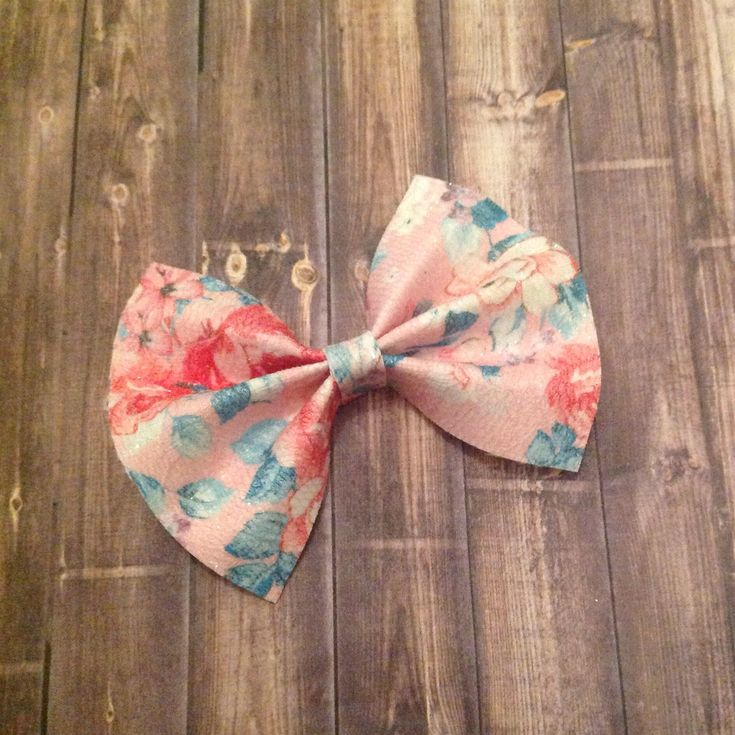 Floral Bow, Spring Bow, Glitter Bow, Baby Bow