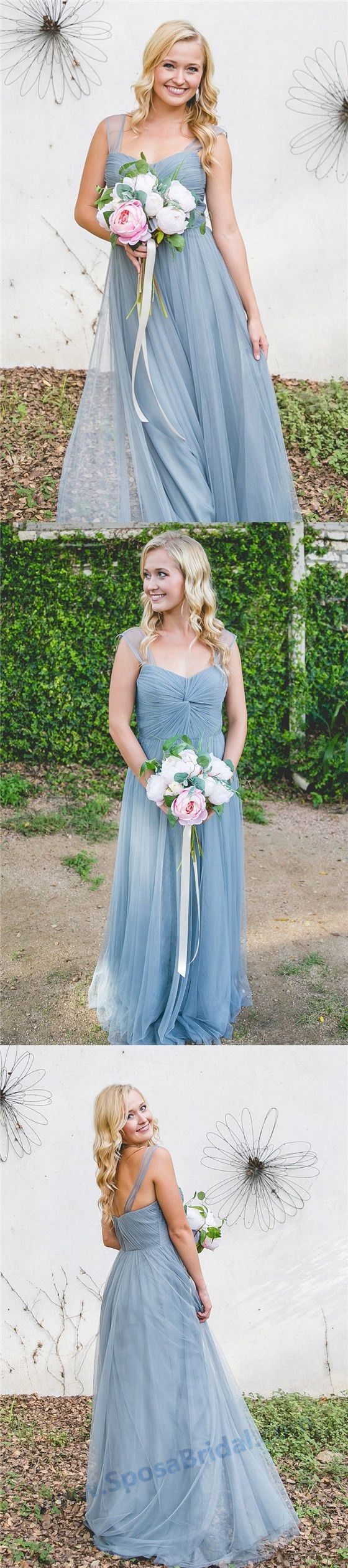 Cheap Custom Newest Pink Blue Tulle Bridesmaid Dresses, High Quality Handmade Bridesmaid Dress, PD0455 #sposabridal#bridesmaiddresses