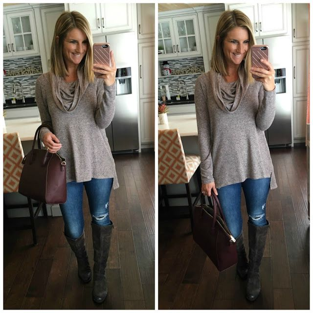 Favorites of 2016 - Tunic, jeans, boots, & purse