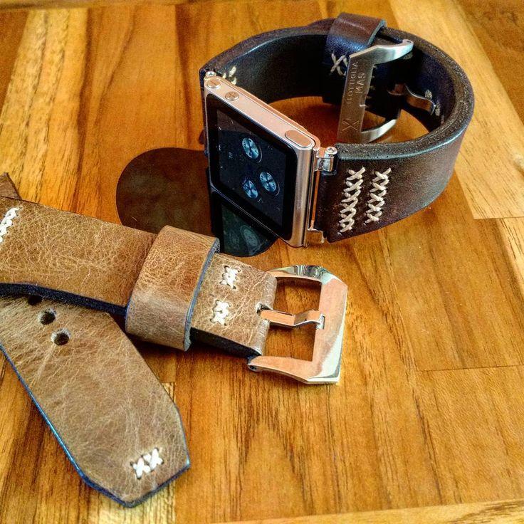 #applewatch  #apple  #ipodnano  #ipodnano6  #handmade  #leatherstrap  #leather  #manstyle