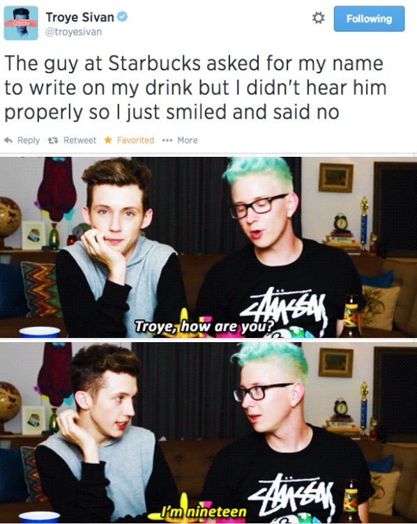 Troye is the cutest