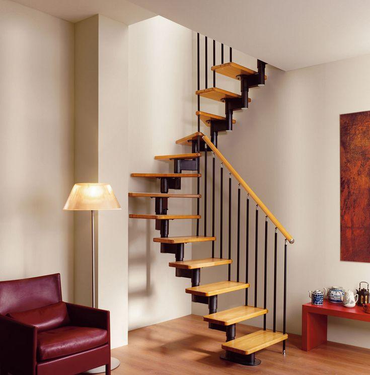 Escaleras para cuartos estrechos buscar con google - Tipos de escaleras de interior ...