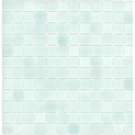 Elida Ceramica�12.5-in x 12.5-in Recycled Glass Mosaic Light Blue Green Glass Wall Tile- or this one for the master bath accent