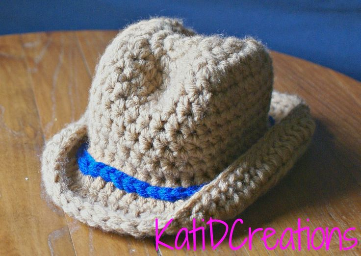 KatiDCreations: Cowboy Hat Crochet Pattern for Newborn ...