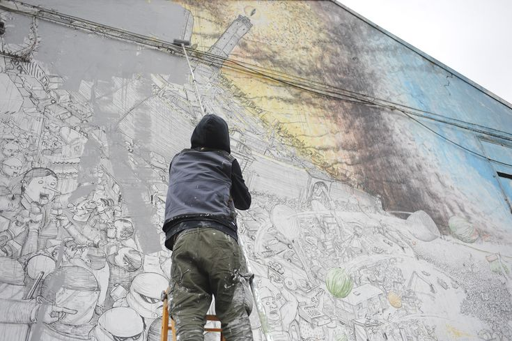 Blu erasing his murals