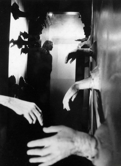 """Catherine Deneuve in Repulsion (1965, dir. Roman Polanski). """"My aim was to show Carole's hallucinations through the eye of the camera, augmenting their impact by using wide-angle lenses of progressively increasing scope. But in itself,that wasn't sufficient for my purpose. I also wanted to alter the actual dimensions of the apartment — to expand the rooms and passages and push back the walls so that audiences could experience the full effect ofCarole's distorted vision. ♥ ♥ ♥ ♥ ♥ ♥/6"""