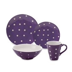 Sprinkle Collection Purple Dinnerware