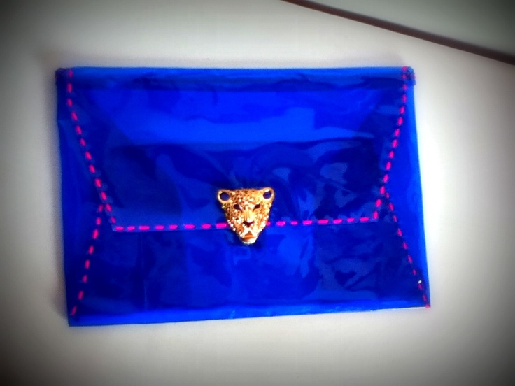 Vinyl  Panther Clutch  (Order on Request) | thewhackyshop | vinyl | pvc | armcandy | classy | clutch | panther