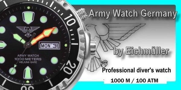 Military Diver Watch Seiko Epson VX43E 1000 m Helium Valve Day Date Light Black