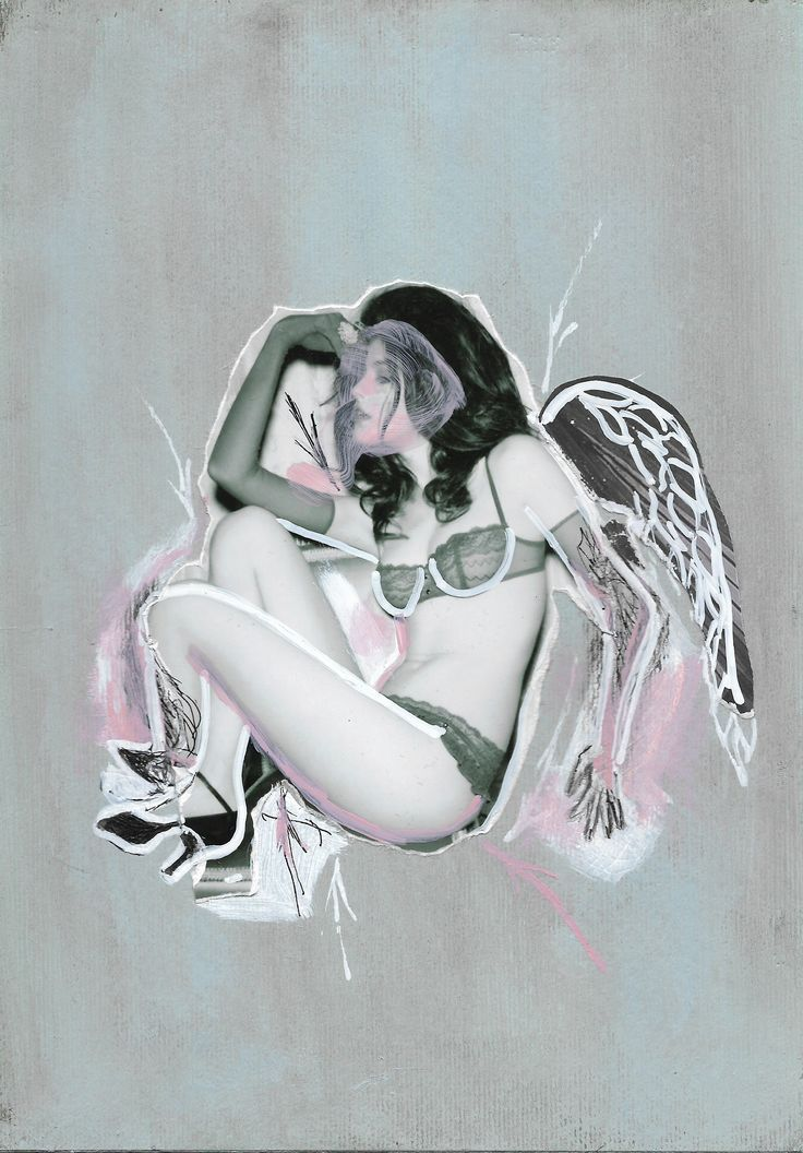 Vicky Secreta,... Serie Fashion Girl, Acrílico, Fotografía, pastel sobre papel (Pittura).  #Scketch, #Collage #Collageart