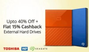 (Suggestions added) Paytm Sale  Buy Hard Disk Drives at discounts  extra 15% cashback  movie offer