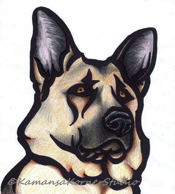 Pastore tedesco da colorare cani con immagini di animali disegni e