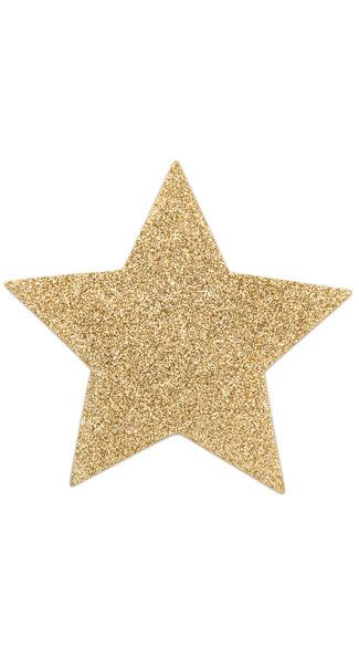 flashy gold star pasties fun feature and gold stars