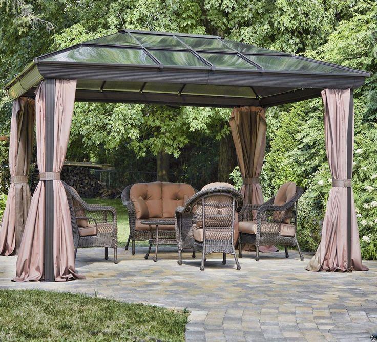 Gazebo Metal Steel Aluminum Canopy Outdoor Patio Tent Wedding Party Events w Net | eBay