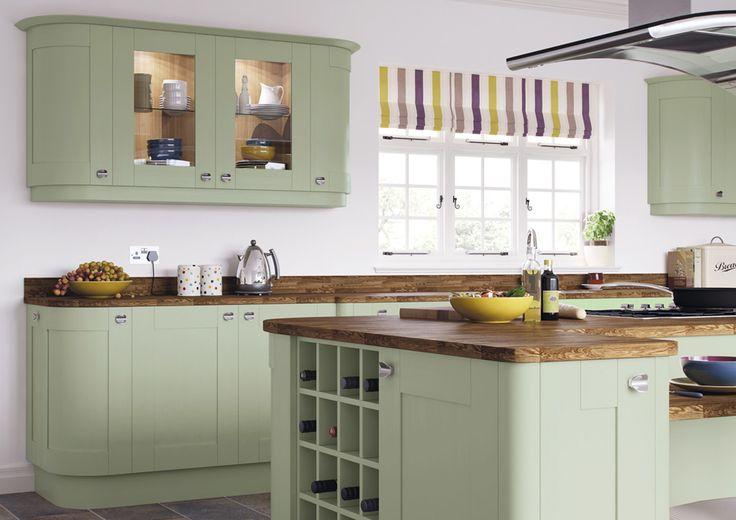 Sage Green Sage Green Painted Kitchen Doors | Roma Shaker | Kitchen Warehouse UK - £16.40 Cheap Kitchens | Discount Kitchens for Sale Online | Cheap Kitchen Cabinets