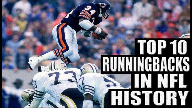 Highlights of the top 10 running backs in nfl history. Some retro running backs on this list!
