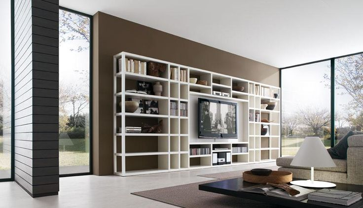 Living Room, Wall Mounted Living Room Cabinet And TV Stand Beautiful Minimalist Living Room Cabinet Wall Mounted Design Modern Living Room Wall Mounted Book Storage Wall Units Crossing: Try To Give A New Touch Wih Wall Units For Living Rooms Modern Style Furniture
