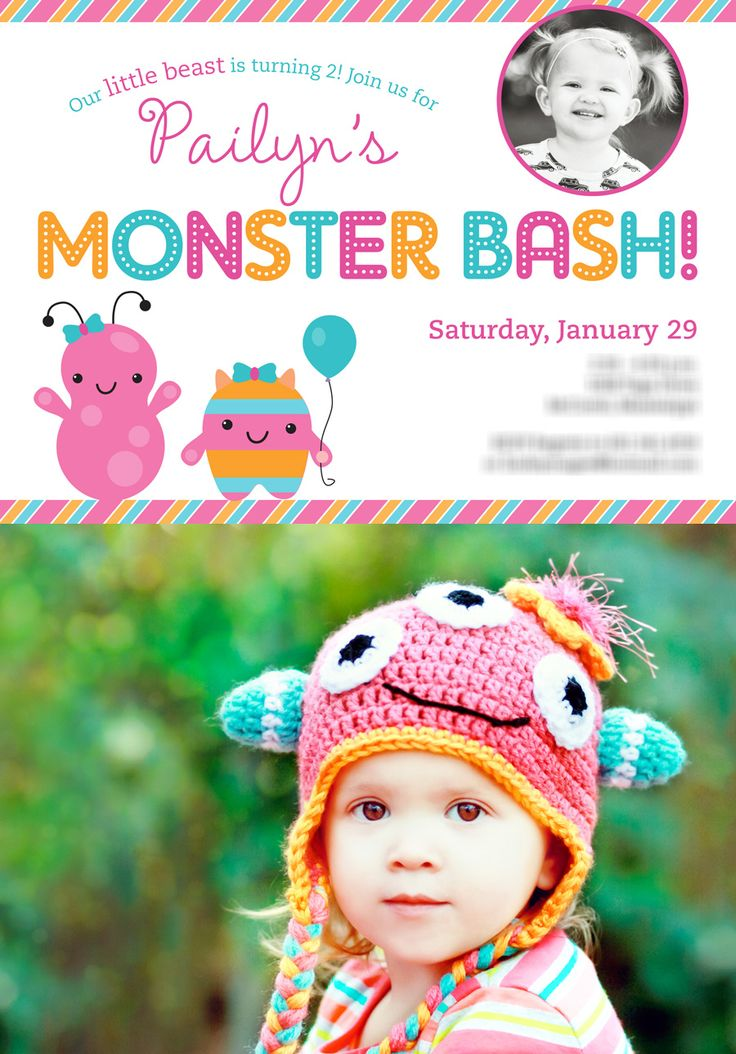 93 best images about Little Monster Party – Monster Party Invites