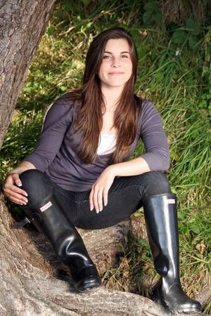 Black wellies and jeans