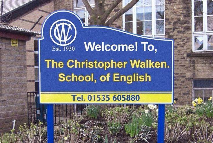 Christopher Walken school, of English...