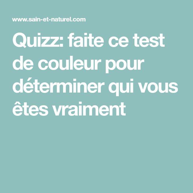Quizz: faite ce test de couleur pour déterminer qui vous êtes vraiment